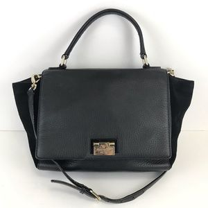 Kate Spade Magnolia Park Laurel Black Suede Bag
